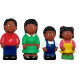AFRICAN-AMERICAN FAMILY FIGURE SET