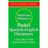 (3 EA) MERRIAM WEBSTERS POCKET SPANISH - ENGLISH DICTIONARY