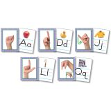 AMERICAN SIGN LANGUAGE CARDS SET OF 26