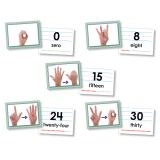 AMERICAN SIGN LANGUAGE CARDS NUMBER0-30