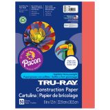 TRU RAY 9 X 12 RED 50 SHT CONSTRUCTION PAPER