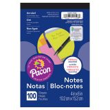 NEON 4X6 NOTE PAD 100CT