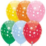 12IN STARS ALL OVER BALLOONS 8 PK