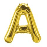 (10 EA) 16IN FOIL BALLOON GOLD LETTER A