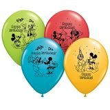 12IN MICKEY HAPPY BDAY BALLOONS 6PK