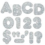 (6 PK) READY LETTERS 4IN CASUAL SILVER SPARKLE