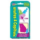 POCKET FLASH CARDS 56-PK STATES ANDCAPITALS 3 X 5 TWO-SIDED CARDS