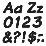 READY LETTERS 4 INCH ITALIC BLACK