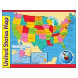 (12 EA) CHART USA MAP 17X22 GR 1-8