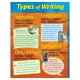 CHART TYPES OF WRITING 17 X 22