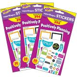 (3 PK) COLOR HARMONY PLANNING STICKERS SUPERSHAPES