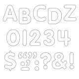 (6 PK) STICK-EZE 1IN WHITE LETTERS NUMBERS PUNCTN MARKS 324 PER PK