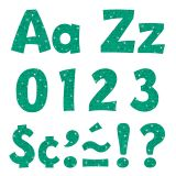 4IN READY LETTERS TEAL SPARKLE