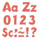 4IN READY LETTERS CORAL SPARKLE