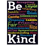 BE KIND ARGUS POSTER