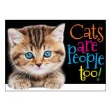 CATS ARE PEOPLE TOO ARGUS POSTER