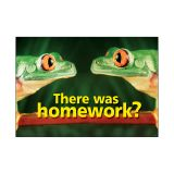 POSTER THERE WAS HOMEWORK 13X19