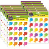 (12 PK) COLORFUL FISH STICKERS