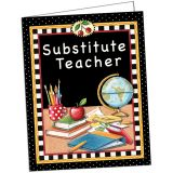 (10 EA) SUBSTITUTE TEACHER POCKET FOLDER