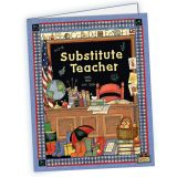(10 EA) SW SUBSTITUTE TEACHER POCKET FOLDER