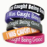 I WAS CAUGHT BEING GOOD WRISTBANDS 10/PK