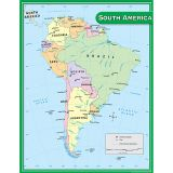 (12 EA) SOUTH AMERICA MAP CHART 17X22
