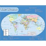(12 EA) WORLD MAP CHART 17X22