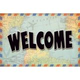(6 PK) TRAVEL THE MAP WELCOME POSTCARDS