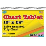 CHART TABLETS 16X24 ASSORTED RULED