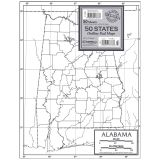 OUTLINE MAP STUDY PADS 50 STATES