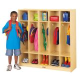5 SECTION PRE-K COAT LOCKER WITH SOLID WOOD BACK