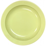 Melamine Crockery- Round Rimmed Soup Plate 9. Deeper than Plate (Yellow)