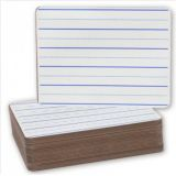 Dry erase board lined 9x12 -24PK