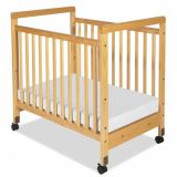 SafetyCraft® Cribs - Compact Fixed-Side- Clear Panels