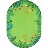Merry Meadows Green 10'9 x 13'2 Oval