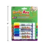 Body Art Painting Markers (6 Pieces)