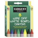 Sargent Art®  Wipe-Off White Board Crayons - Standard (8 Pk)