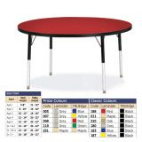 Berries Adjustable Activity Table -  Round (48) - Legs 15-24 (Elementary) -  Grey/Blue