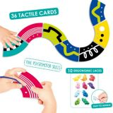 Tactile Cards For Lacing Paths