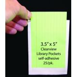 Clear Library Pocket 25/Pk