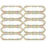 Confetti Large Die-Cut Magnetic Nameplates