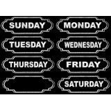 Large Die-Cut Magnetic Chalkboard Days Of Week