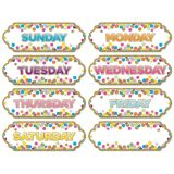 Large Die-Cut Magnetic Confetti Days of the Week Timesavers
