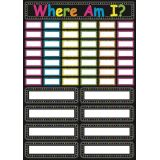 Chalk Where Am I? Magnetic Bulletin Board