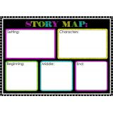 Magnetic Chalk Look Story Map Basic
