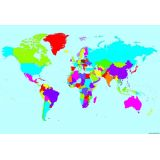 Write On Wipe Off World Map Polychart