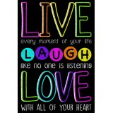 Live Laugh Love Chalk Poly 13X19 Chart