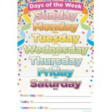 Days Of The Week Confetti Chart
