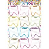 Lost Tooth Confetti Poly Chart 13X19