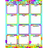 Bonne Fete Emoji Smart Poly 17X22 Chart